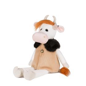 Мягкая игрушка «Коровка Глаша в бежевом пальто», 23 см