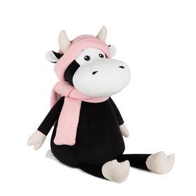 Мягкая игрушка «Коровка Маша в шарфе и шапке», 28 см