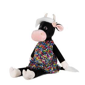 Мягкая игрушка «Коровка Даша в цветном платье», 23 см