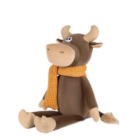 Мягкая игрушка «Бычок Федот в вязаном шарфе», 23 см