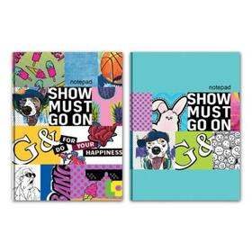 Бизнес-блокнот А6, 80 листов «Шоу продолжается», твёрдая обложка, глянцевая ламинация, МИКС