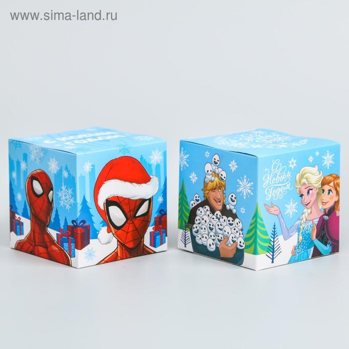 """Коробка подарочная складная """"С новым годом!"""", Disney, 9 x 9 x 9 см"""
