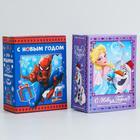 """Коробка подарочная складная """"С новым годом!"""", Disney, 14,8 х 20 х 8 см"""