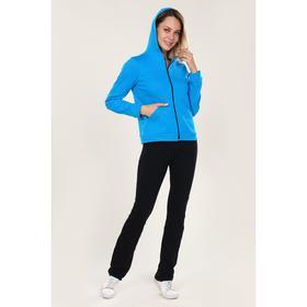 Костюм женский (толстовка, брюки) «Вентура», цвет голубой/чёрный, размер 62 Ош