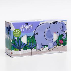 """Платочки бумажные универсальные двухслойные марки """"bella baby Happy"""" по 150 шт. (BB-042-U150"""