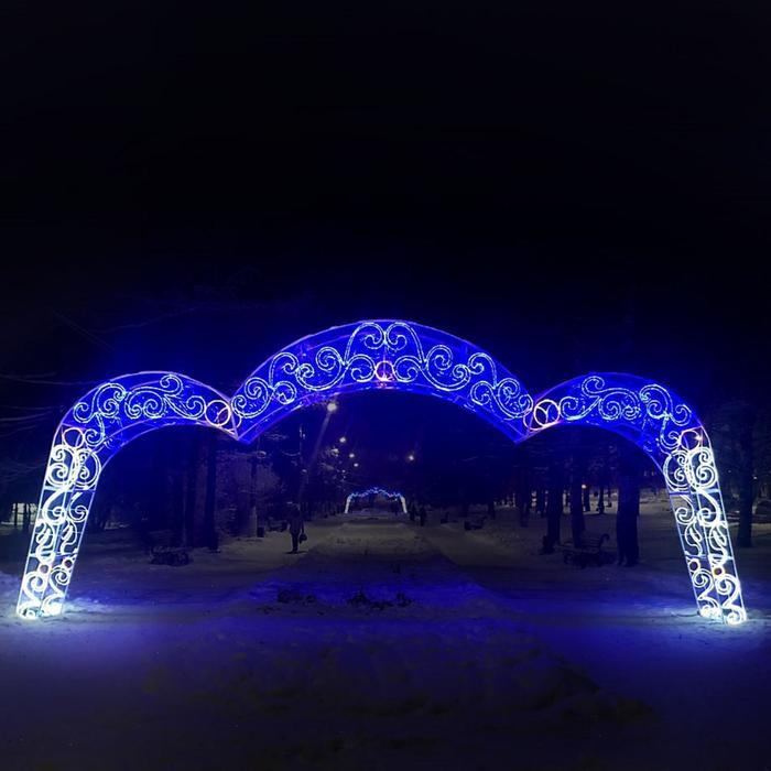 """Светодиодная арка """"Ажур"""", 1000 х 450 х 100 см, 600 Вт"""