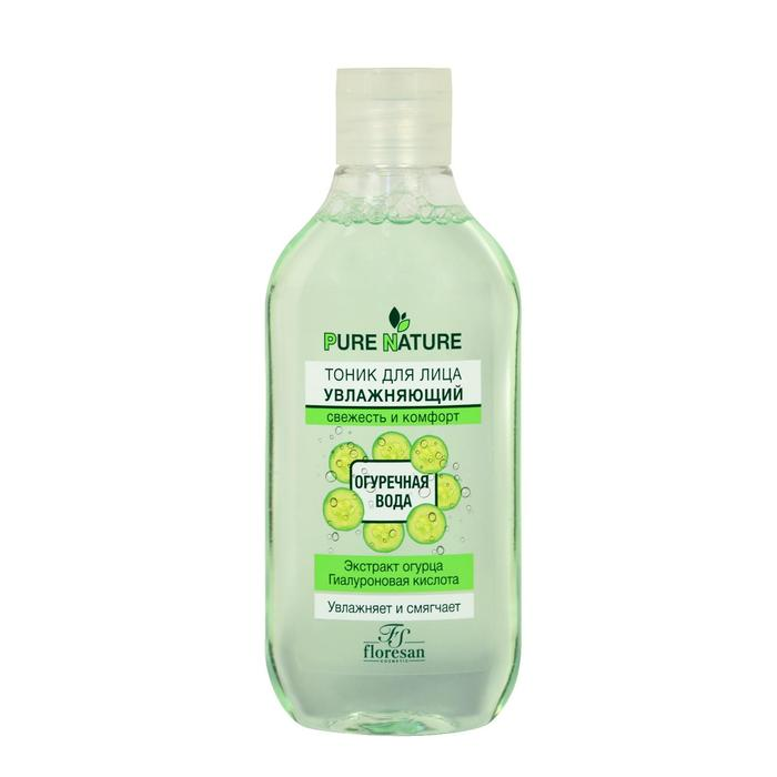 """Тоник Floresan Pure Natural """"Увлажняющий. Огуречная вода"""", свежесть и комфорт, 300 мл"""