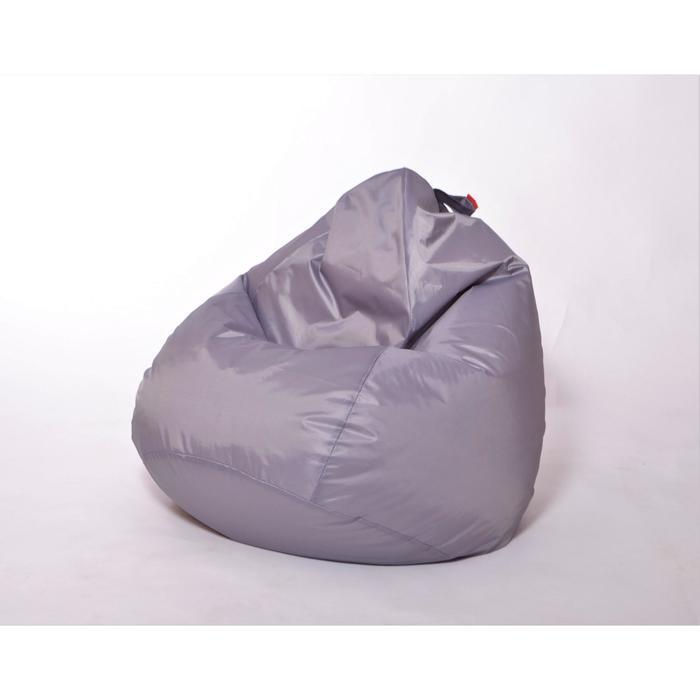 Кресло-мешок «Юниор», диаметр 75 см, высота 100 см, цвет серый