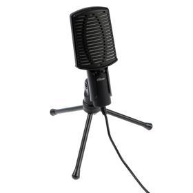 Микрофон компьютерный Ritmix RDM-125, 50-16000 Гц, 2.2 кОм, 30 дБ, 3.5 мм, 1.8 м, черный Ош