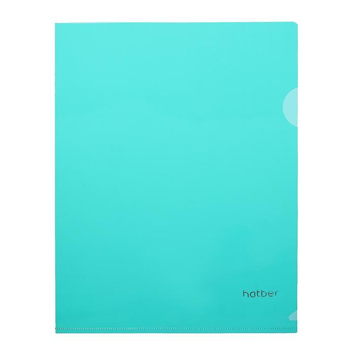 Папка-уголок А5, 180 мкм, зеленая
