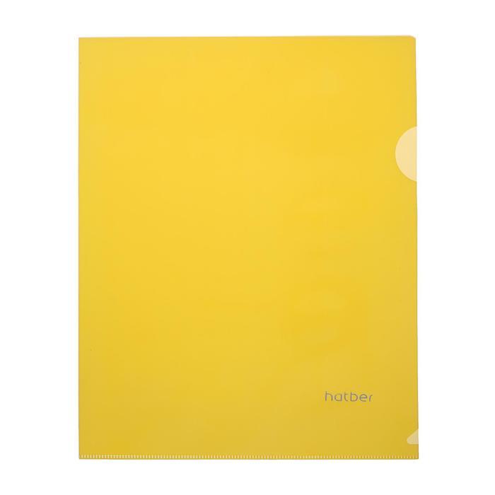 Папка-уголок А5, 180 мкм, жёлтая