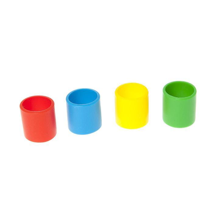 Набор кодировочных колец для рукояток, 4 шт, 4 цвета