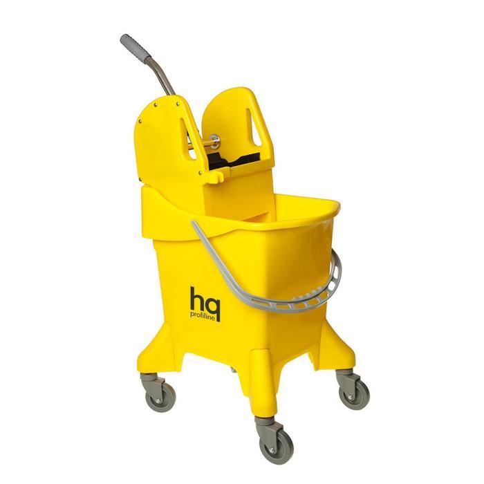 Ведро на колесах с универсальным отжимом, 31 л, цвет жёлтый