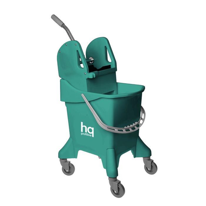 Ведро на колесах с универсальным отжимом, 31 л, цвет зелёный