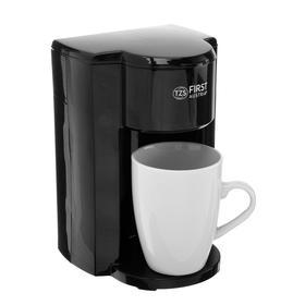 Кофеварка FIRST FA-5453-3, капельная, 350 Вт, 0.15 л, 1 чашка, чёрная