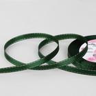 Лента атласная «Серебряные нити», 6 мм ? 23 ± 1 м, цвет зелёный №049