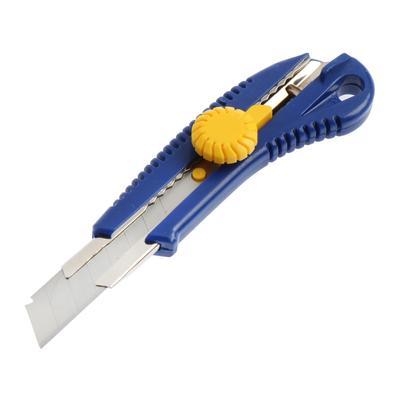 Нож усиленный KUBIS 04-03-0318, выдвижное лезвие, винтовой замок, 18 мм - Фото 1