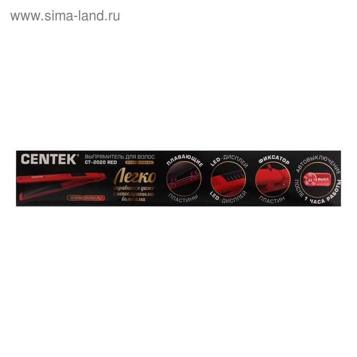 Выпрямитель Centek CT-2020, 60 Вт, керамика, пластины 120х25 мм, до 230°С, LED, красный