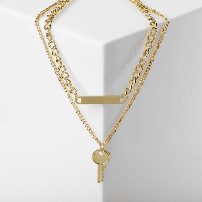 Кулон Цепь ключ, цвет золото, L38 см