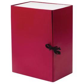 Короб архивный с завязками Calligrata разборный, бумвинил, 150 мм, бордовый, клапан микрогофрокартон, 1400 листов