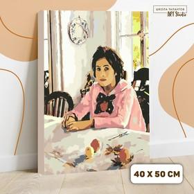 Картина по номерам на холсте с подрамником «Девочка с персиками» Валентин Серов 40х50 см