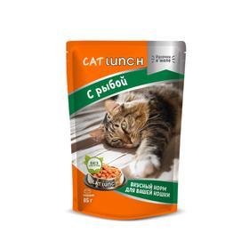 Влажный корм Cat Lunch для кошек, рыба в желе, 85 г Ош