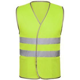 Жилет мужской светоотражающий «Вежливость отражается», размер L, цвет жёлтый неон Ош