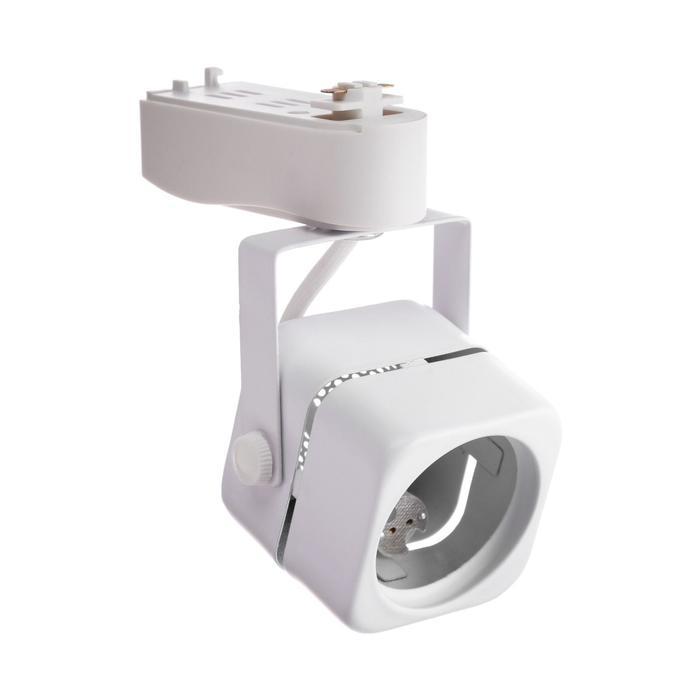 Трековый светильник Luazon Lighting под лампу Gu5.3, квадратный, корпус белый