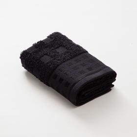 Полотенце махровое LoveLife Square, 30х60 см, цвет чёрный
