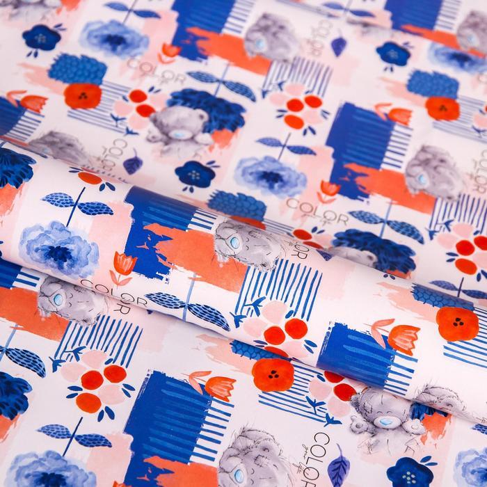 Бумага упаковочная глянцевая COLOR, 50 x 70 см