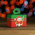 """Подарочная коробка """"Бантик-снеговик"""", сборная, 9 х 6 х 9 см"""