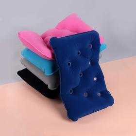 Подушка дорожная, надувная, вентилируемая, 39 × 25 см, цвет МИКС Ош