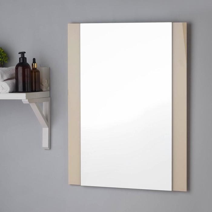 Зеркало , настенное, 67х52см, с декоративными вставками (цвет вставки бежевый)