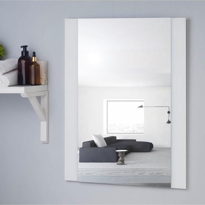 Зеркало , настенное, 67х52см, с декоративными вставками (цвет вставки белый)