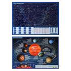 Планшетная карта Солнечной системы/ звездного неба, А3,  двусторонняя.