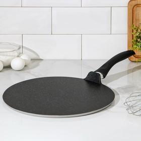 Сковорода-чудушница, d=32 см, антипригарное покрытие, цвет тёмный мрамор