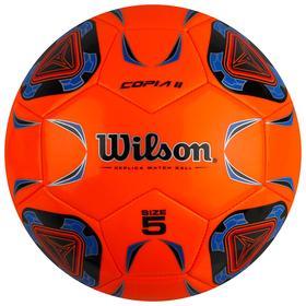 Мяч футбольный Wilson Copia II, размер 5, 30 панелей, TPU, 1 подслой, машинная сшивка, оранжевый/синий