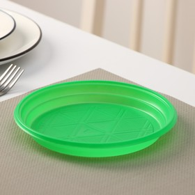 Тарелка d=16,5 см, 100 шт/уп, цвет зелёный