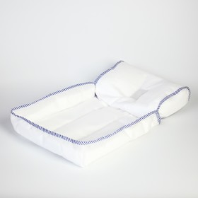 Матрасик для купания Selby, цвет белый, окантовка МИКС, от 0 мес.