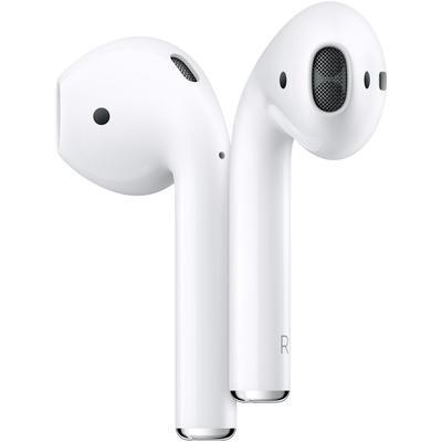 Наушники с микрофоном Apple AirPods (MRXJ2RU/A), кейс с беспроводной зарядкой, белые - Фото 1