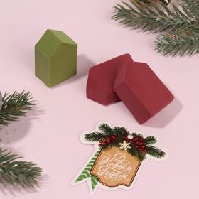 Подарочный набор спонжей для макияжа, 3 предмета, с открыткой, цвет МИКС