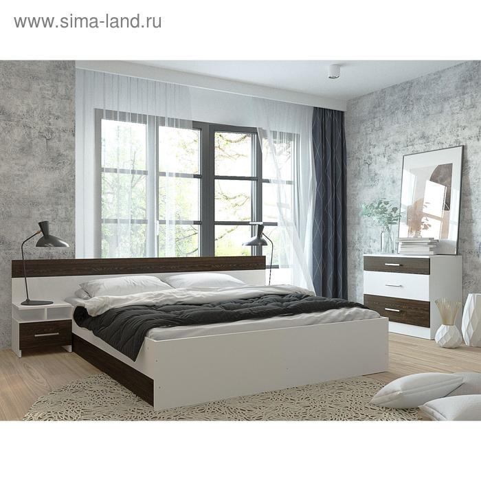 Спальня «Леси», кровать 160х200 см, 2 тумбы, комод, цвет белый/кантербери