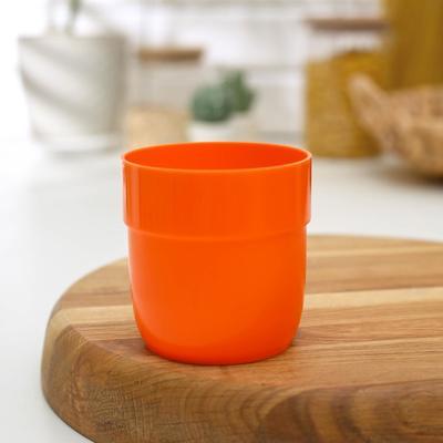 Стакан, цвет оранжевый