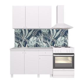 Кухонный гарнитур «Поинт», 1,2 м, ЛДСП, столешница «Антарес» 28 мм, без мойки, цвет белый Ош