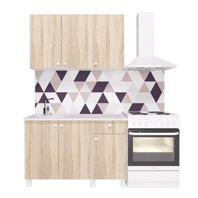 Кухонный гарнитур «Поинт», 1,2 м, ЛДСП, столешница «Антарес» 28 мм, без мойки, цвет сонома Ош