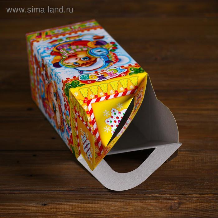 "Подарочная коробка ""Модники"", четырехгранка, 10 х 10 х 18 см"