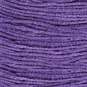 Нитки мулине, 8 ± 1 м, цвет тёмно-лиловый Ош