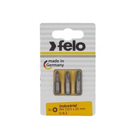 Набор бит Felo 02293116, крестовых, PH 1/2/3X25 мм, 3 шт.