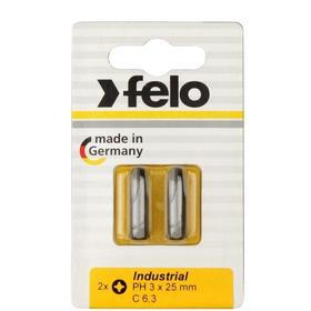 Бита Felo 02203036, крестовая, серия Industrial, PH 3X25 мм, 2 шт.