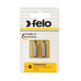 Бита Felo 02061036, шлицевая, серия Industrial, 6.5X1.2X25 мм, 2 шт.